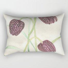 Fritillaria Watercolor Rectangular Pillow