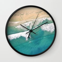 Turquoise Sea Beach Wall Clock