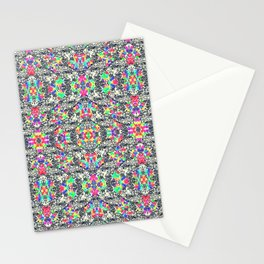 colorful black mosaic Stationery Cards