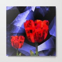 digital tulips Metal Print