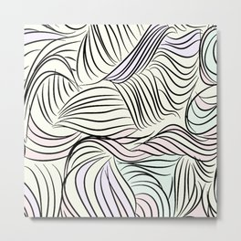 Contemporary cartoon pattern Metal Print