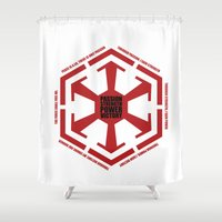 sith Shower Curtains featuring The Code of the Sith by Spectacle Photo