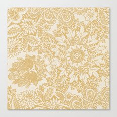 Floral in Yellow Canvas Print