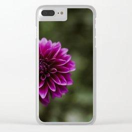 Purple Dahlia Clear iPhone Case