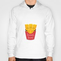 fries Hoodies featuring Friend Fries by Wai Theng