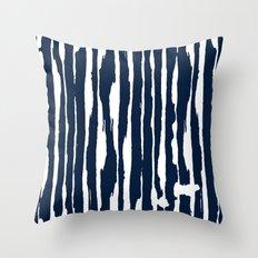 Blue- White- Stripe - Stripes - Marine - Maritime - Navy - Sea - Beach - Summer - Sailor 5 Throw Pillow