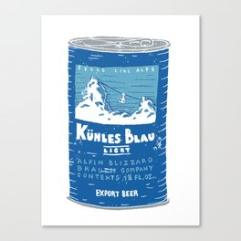 Kuhles Blau Light Canvas Print