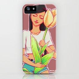 Tulip hug iPhone Case