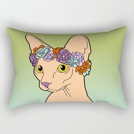 Flower Crown Sphynx Rectangular Pillow