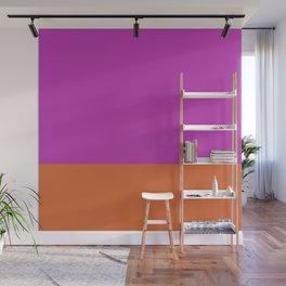 Fuschia Pink & Orange Color Block  Wall Mural