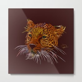 Leopard abstracto Metal Print