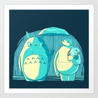 catbug Art Prints featuring New Blue Neighbors by Andrew Sebastian Kwan