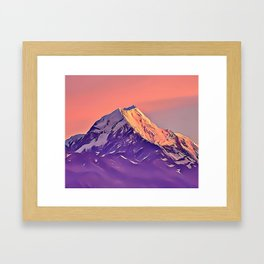Candy Mountain Airbrush Artwork Framed Art Print
