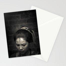 Nepalese Woman, Kathmandu, nepal Stationery Cards