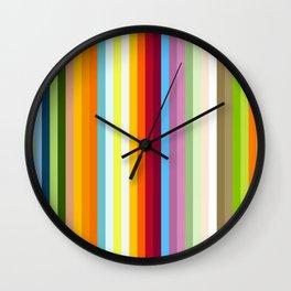 Multicolored Retro Stripes Mngwa Wall Clock