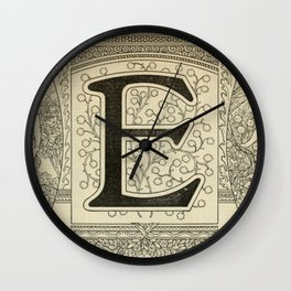 Art Nouveau E Wall Clock