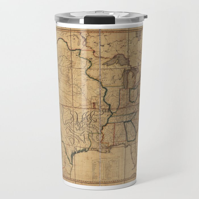 Map of the United States by John Melish (1818) 3rd State Travel Mug