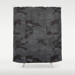 Hessian camo  Shower Curtain