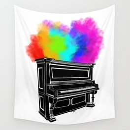 PIANO RAINBOW Wall Tapestry