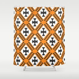 Ethnic cross pattern Shower Curtain