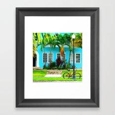 #side street still life miami Framed Art Print