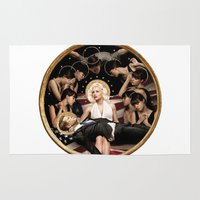 jfk Area & Throw Rugs featuring Forever Marilyn Monroe  by Chess Ordinary