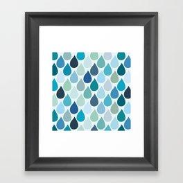 Blue rain Framed Art Print