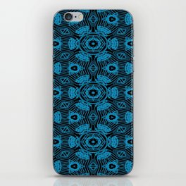 Black and Blue String Art 4406 iPhone Skin