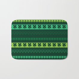 Clover Borders Pattern Bath Mat