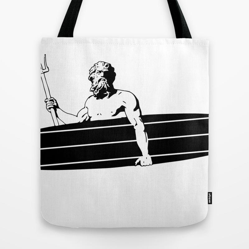 Surf God Tote Bag by Saltysurfsalad TBG8309865