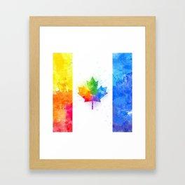 maple leaf flag //splash Framed Art Print