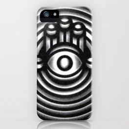 Halftone Hamsa iPhone Case