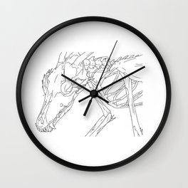 Fox Demon Wall Clock