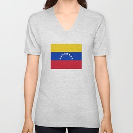 flag of venezuela Unisex V-Neck