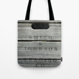 Old wooden box from overseas Tote Bag