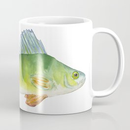 Perch Fish Watercolor Coffee Mug