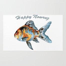 Happy Nowruz Shubunkin Goldfish Persian New Year Rug