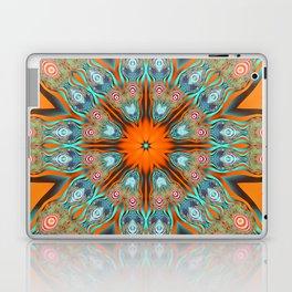 Star shape kaleidoscope with playful patterns Laptop & iPad Skin