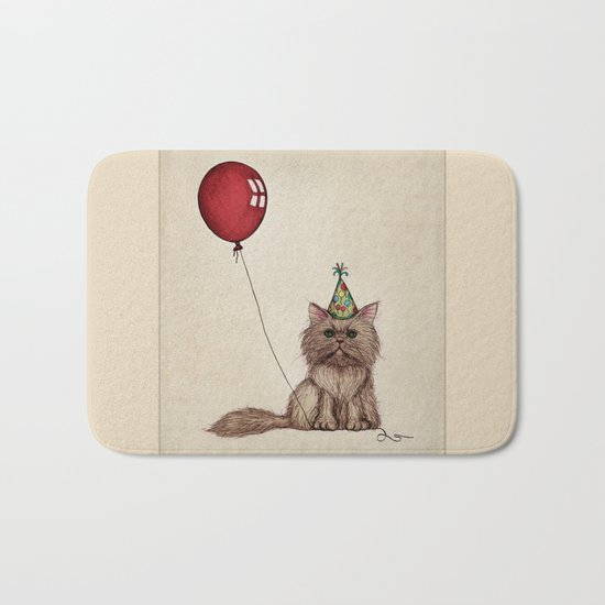 Balloon Love: Kitty Celebration Bath Mat