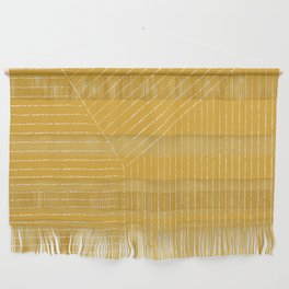 Lines / Yellow Wall Hanging