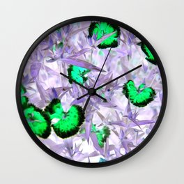 Blooms on Neptunes Wall Clock