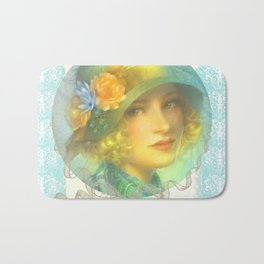 Vintage Girl Bath Mat