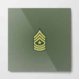 Sergeant Major (OD Green) Metal Print
