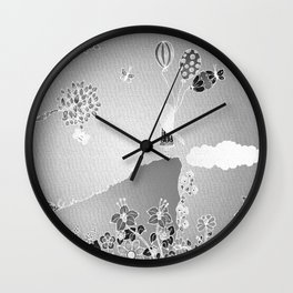 Summer Girl Wall Clock