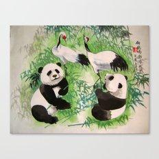 bamboo orchestra Canvas Print