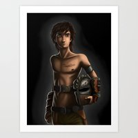hiccup Art Prints featuring HICCUP by Esai Alfredo