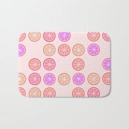 Pink Juicy Fruit Slices Bath Mat