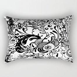 Ink Garden Rectangular Pillow