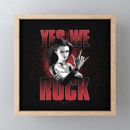 Girls ROCK Framed Mini Art Print