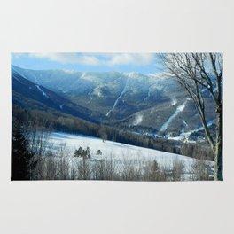 Ski Trails at Sugarbush Resort, Vermont Rug